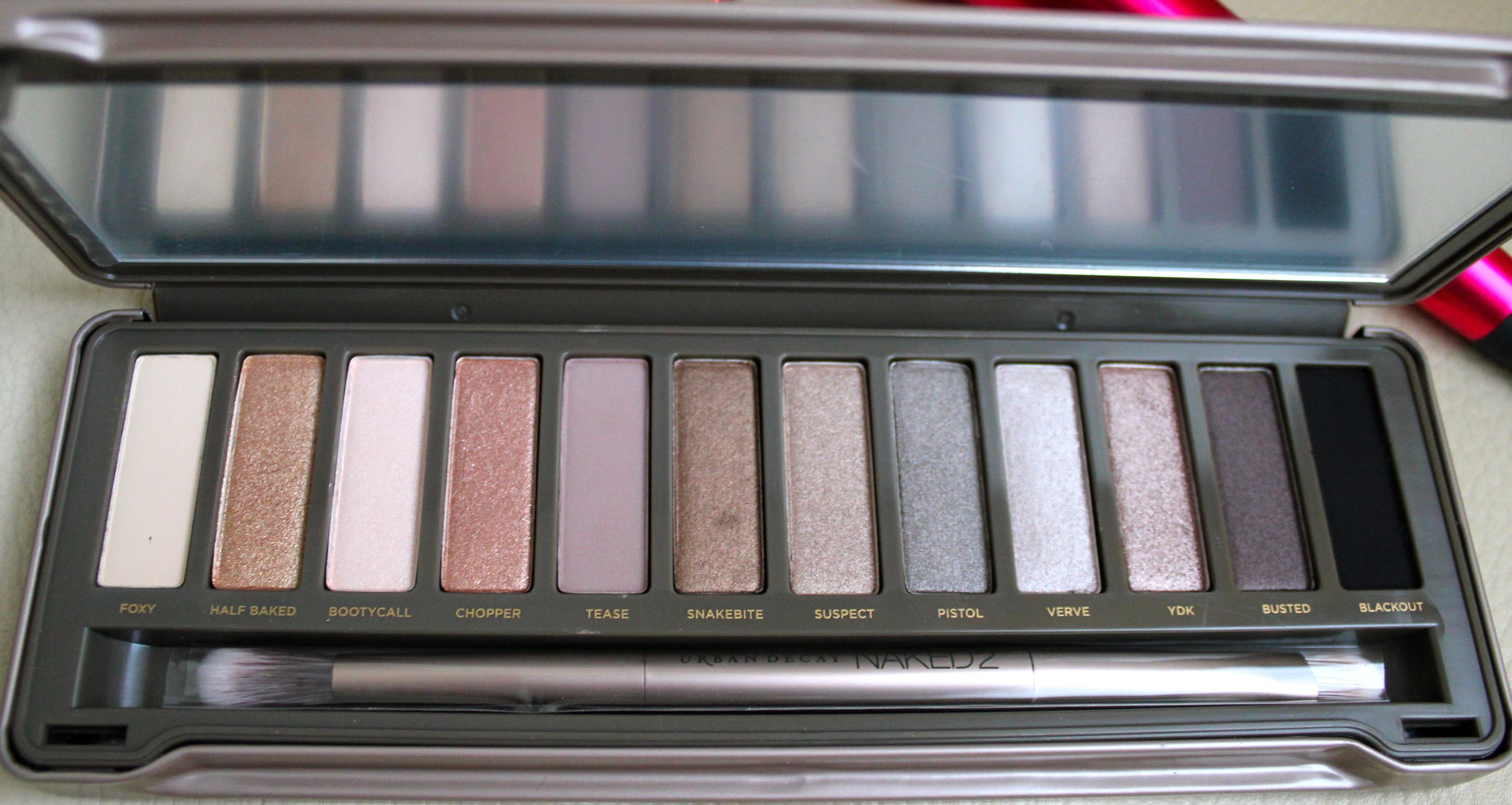 Maquillage avec la palette naked 2 une parenth se mode - Palette maquillage avec pinceaux ...