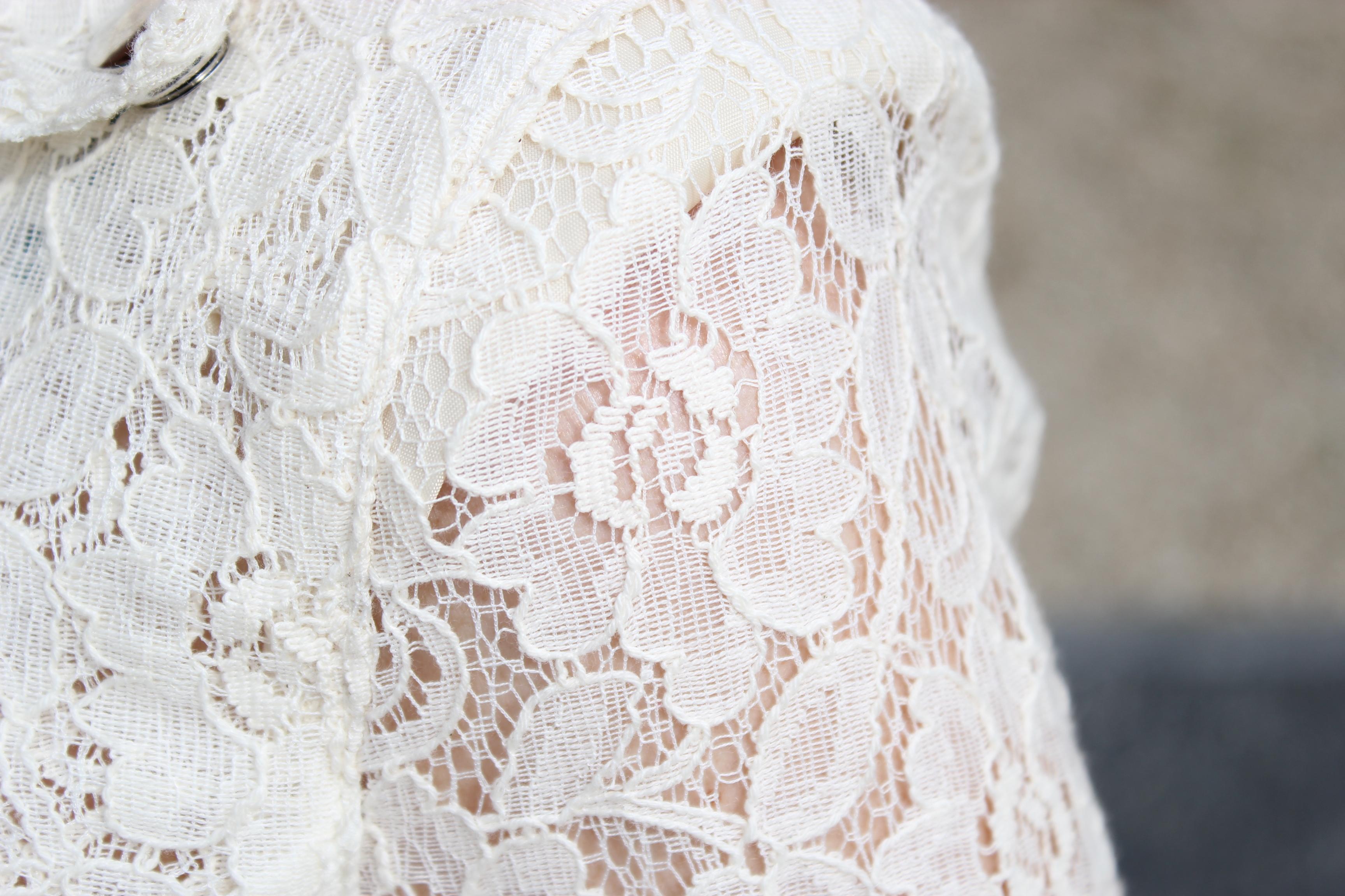 Robe dentelle blanche rene derhy