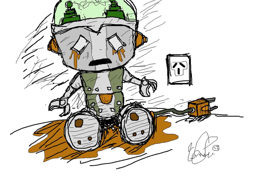 robot triste
