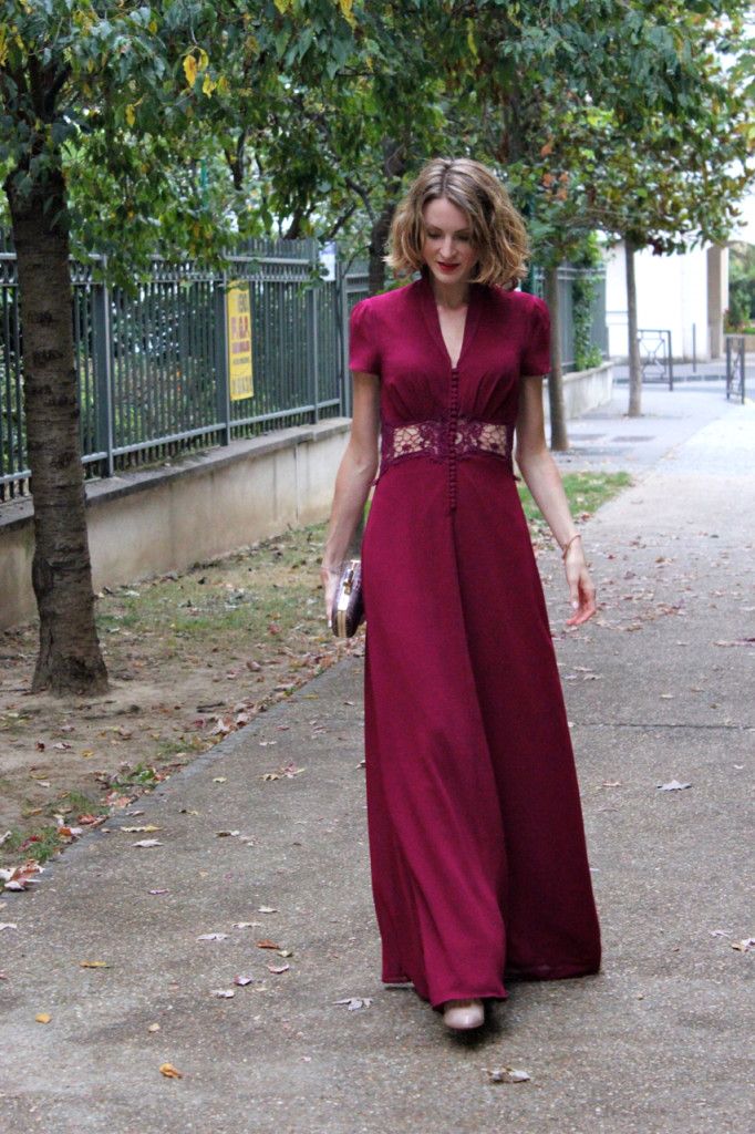 Robe de cocktail longue asos