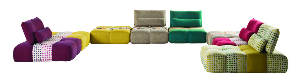 D coration la nouvelle collection printemps et 2015 roche bobois une parenth se mode - Canape colore ...